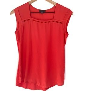 The Limited sleeveless coral blouse, Size XS